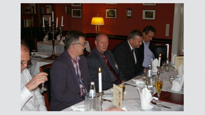 von links nach rechts: Uwe Feiler, CDU-Bundestagskandidat und Vorsitzender der MIT-Havelland, Hermann Kühnapfel Landesvorsitzender der MIT-Brandenburg, Jens Funke, Leiter des MIT-Arbeitskreises Ost-Havelland